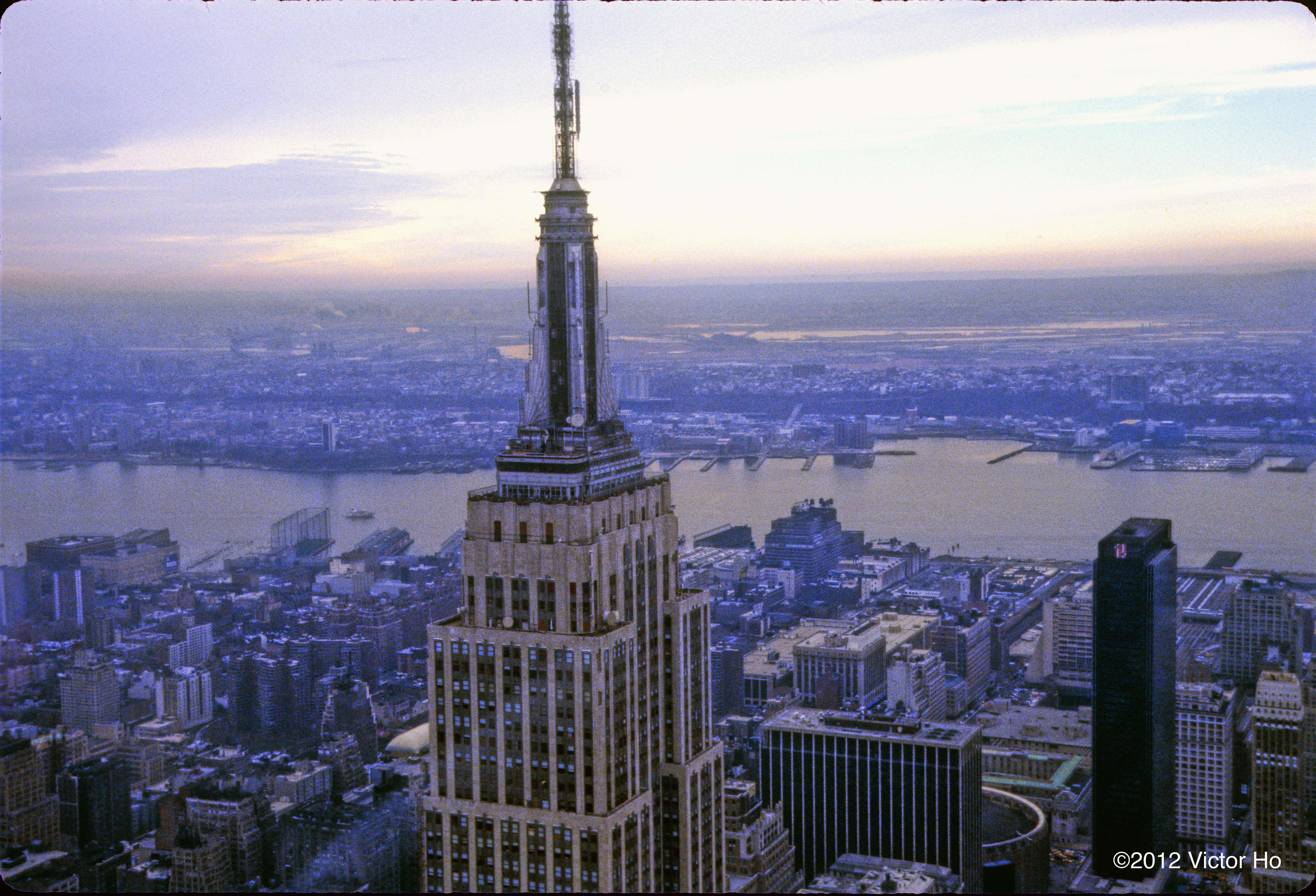 King Kong Empire State Building Aerial View